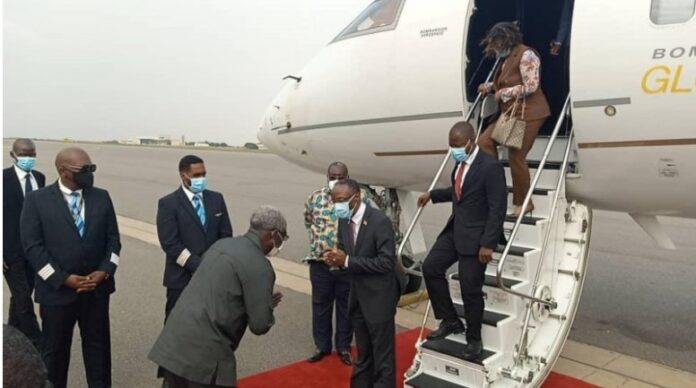 Arrival of Heads of state for investiture
